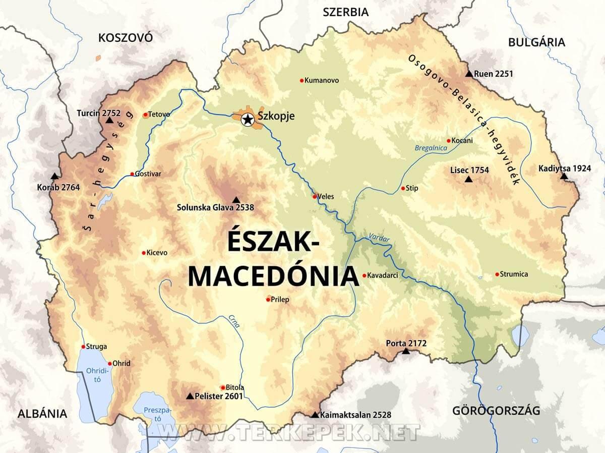 szerbia domborzati térkép Észak Macedónia térképek szerbia domborzati térkép