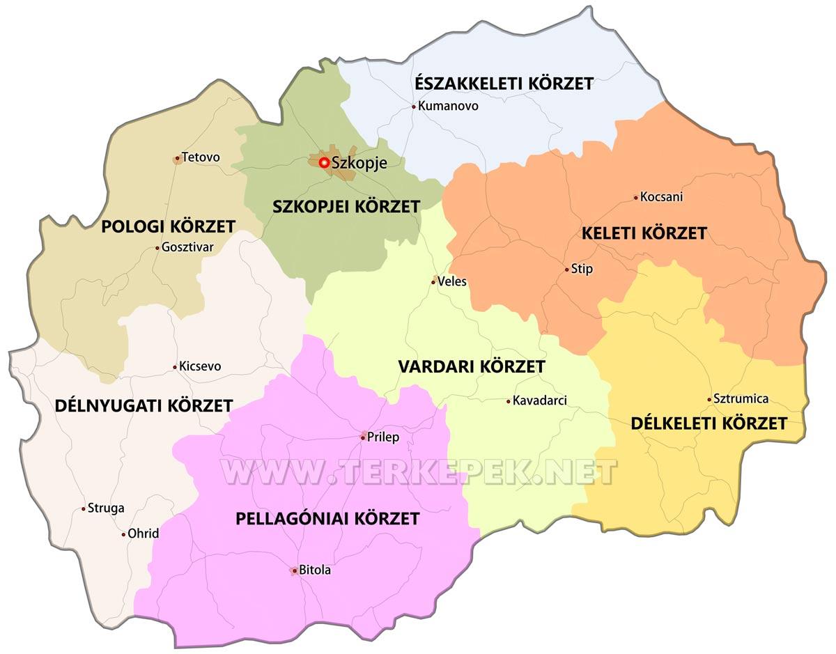 macedónia térkép Észak Macedónia térképek macedónia térkép